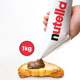 NUTELLA HAZELNUT AND CHOCOLATE SPREAD 1KG PIPING BAG x 6